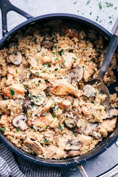 A Pot Creamy Parmesan Chicken with Mushroom Rice will be one of the best things you'll ever eat! All you need is a […] A Pot Creamy Parmesan Chicken with Mushroom Rice will be one of the best things you'll ever eat! Healthy Chicken Recipes, Rice Recipes, Casserole Recipes, Cooking Recipes, Dinner Recipes, Shredded Chicken Recipes, Taco Casserole, Lunch Recipes, Delicious Recipes