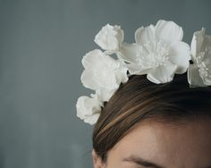 Icelandic Poppy Crown from Collected Edition. 3D printed out of nylon...super cool