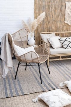 Home Decoration Bedroom Pamps Grass !Home Decoration Bedroom Pamps Grass ! Decoration Bedroom, Home Decor Bedroom, Living Room Decor, Living Spaces, Cafe Interior, Interior Exterior, Interior Design, Room Inspiration, Interior Inspiration