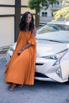 Exploring Atlanta in the 2016 Toyota Prius Black Girl Fashion, Look Fashion, Fashion Outfits, Womens Fashion, African Print Fashion, African Fashion Dresses, Classy Outfits, Stylish Outfits, Nice Dresses