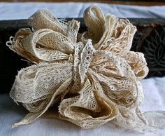 collection of vintage antique lace inserts and trims