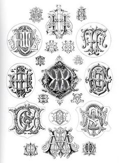 love old vintage monograms and typograpy...could just do a beautiful S inside a decorative circle/diamond