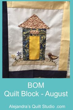 BOM Quilt Block - August Applique Stitches, Dmc Embroidery Floss, Applique Fabric, Quilting Tools, Hand Quilting, Quilting Ideas, Applique Tutorial, Block Of The Month, Back Stitch