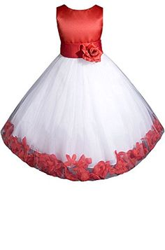 6db9096030934 Amazon.com: AMJ Dresses Inc Girls Red Flower Girl Christmas Dress Size 2:  Special Occasion Dresses: Clothing