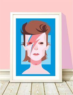 Poster David Bowie Ziggy Stardust - A4 - Hey You - R$ 20