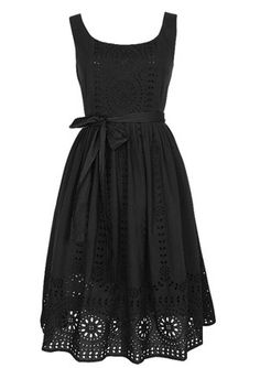 Black Eyelet Dress stylin-my-way Pretty Outfits, Pretty Dresses, Cute Outfits, Eyelet Dress, Black Sundress, Knit Dress, Dress Black, Lace Dress, Mode Style