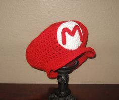 Hand-knit Mario Cap | Community Post: A Super Mario Love Story, Told Through 30 Mario Products
