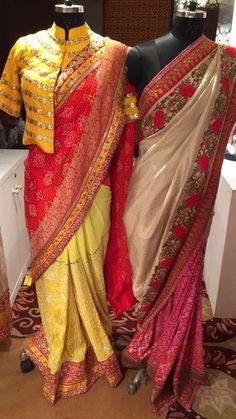 Saree Jacket Designs, Saree Blouse Neck Designs, Saree Blouse Patterns, Sari Design, Modern Saree, Stylish Blouse Design, Stylish Sarees, Elegant Saree, Saree Dress