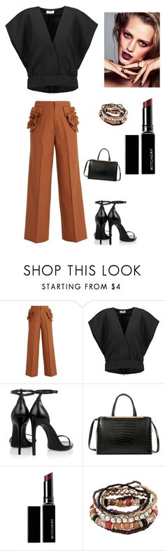 """Untitled #4710"" by kotnourka ❤ liked on Polyvore featuring Muveil, Jil Sander, Yves Saint Laurent, Dasein and Witchery"