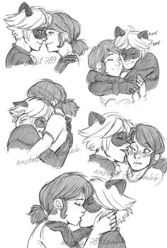 These are the Marichat requests I received for the soft fluff meme. They were all fun to draw. I obviously adapted them depending of the idea tho. I'm not taking more requests I'm just finishing the ones I have