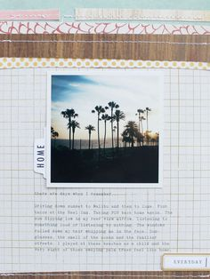 #papercraft #scrapbook #layout.  A favorite | HOME by france at @Studio_Calico