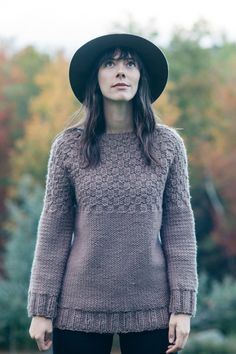 butte pullover by pam allen / in quince & co. puffin