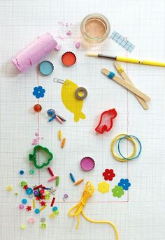 great styling of kid project supplies (by mini-eco)