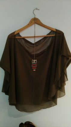 Womens tshirt. Is handcrafted chiffon and viscose de makavi en Etsy