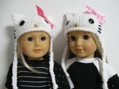 American Girl Doll   Hello Kitty Hats by 123MULBERRYSTREET on Etsy, $11.00