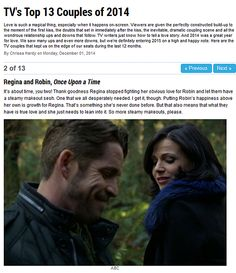 One of the Top TV Couples of the Year! #OutlawQueen
