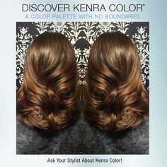 Beautiful haircolor by Fel Jimenez using Kenra Color 6BC Demi-Permanent!