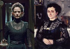 'Penny Dreadful' Costume Designer Gabriella Pescucci on Her Dreadfully Delicious Designs - Vanessa Ives Comparison with Renoir 'Woman in a Lace Blouse' Movie Costumes, Diy Costumes, Penny Dreadfull, Vintage Outfits, Vintage Fashion, Vintage Clothing, Steampunk Costume, Gothic Steampunk, Black Lace Blouse