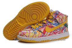 Nike Dunk High Premium QK Back to School Yellow Pink, so glad i fit into kids shoes. Jordan Shoes For Kids, Michael Jordan Shoes, Air Jordan Shoes, Kid Shoes, Cute Shoes, Girls Shoes, Baby Shoes, Nike Dunk High, Nike High