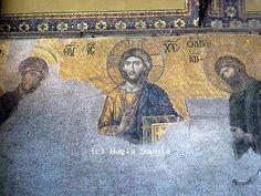 Deesis mosaic in the Hagia Sophia, Istanbul.