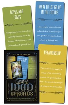 The Deck of 1000 Spreads: Your Tarot Toolkit for Creating the Perfect Spread for Any Situation de Tierney Sadler http://www.amazon.fr/dp/0738733393/ref=cm_sw_r_pi_dp_JuSbwb1ZZQCFH