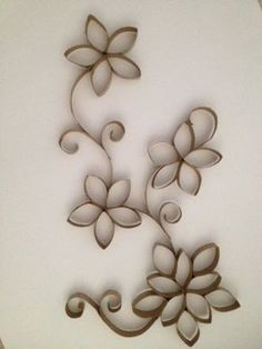 Toilet Paper Roll art. I made this one myself!! It's really easy and fun! Check out how to do it at  http://www.cutoutandkeep.net/projects/toilet-paper-roll-wall-art