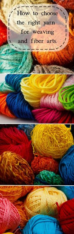 Ever wonder if you're buying the right yarn for the job? Animal, plant, and synthetic yarns explained. #weaving #learntoweave #weavingtutorials