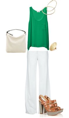 """""""Summer work outfit"""" by bethnall. Love this color green! Summer Work Outfits, Spring Outfits, Outfit Summer, Look Office, Office Inspo, Look 2018, Casual Outfits, Cute Outfits, Work Attire"""
