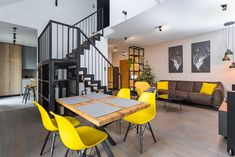 Capricorn, Conference Room, Stairs, Loft, Interiors, Table, Furniture, Home Decor, Stairways