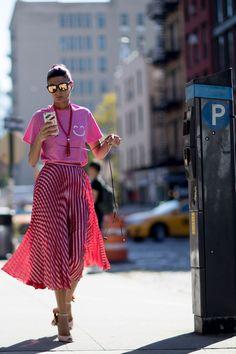 New York Fashion Week Street Style   Spring 2017 Day 6 – The Impression