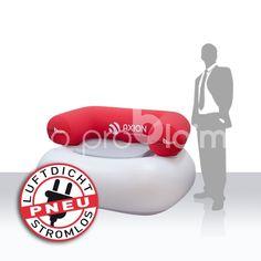 chillout Möbel  = aufblasbar luftdicht Möbel - produziert aus PVC in Kleinserie - Rückenlehne und Sitz- bzw. Tischauflagen nach Kundenwuwunsch bedruckt - ideal für Messen, Events, Promotion.   Mehr dazu unter www.noproblaim.at Events