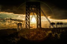 george washington bridge sunset - Google Search