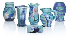 A GROUP OF SIX CLARICE CLIFF WARES
