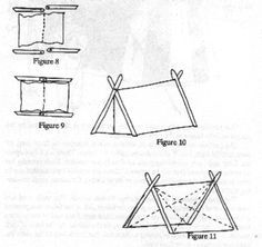 How to build a Viking A Frame tent, with instructions, pictures, measurements, types of fabric, advice, and personal experience. Great resource.