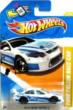 Ford Falcon Race Car Hot Wheels 2012 New Models #4/50 White/Blue #HotWheels #Ford