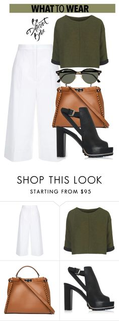 """""""OOTD"""" by dopegeezy ❤ liked on Polyvore featuring ESCADA, Topshop, Fendi, See by Chloé and Ray-Ban"""