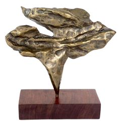 Cast Bronze American Detailed Abstract Sculpture | From a unique collection of antique and modern sculptures at https://www.1stdibs.com/furniture/decorative-objects/sculptures/