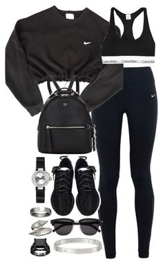 A fashion look from April 2016 by leylasstyle featuring NIKE Calvin Klein Underwear adidas Fendi Cartier Alexander McQueen and Yves Saint Laurent Cute Lazy Outfits, Cute Swag Outfits, Sport Outfits, Hiking Outfits, Boujee Outfits, Teen Fashion Outfits, Look Fashion, Outfits For Teens, Womens Fashion