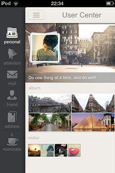 Designer: Wang Iphone App Design, App Ui Design, User Interface Design, Layout Design, Iphone Ui, Flat Ui, App Design Inspiration, Website Features, Mobile Web