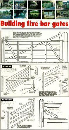 Building Five Bar Gates - Outdoor Plans and Projects | WoodArchivist.com