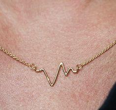 Sarah Chloe | Gold plated heatbeat necklace | goop.com