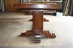 French Late 19th Century Farm Trestle Table in Oak   From a unique collection of antique and modern farm tables at http://www.1stdibs.com/furniture/tables/farm-tables/