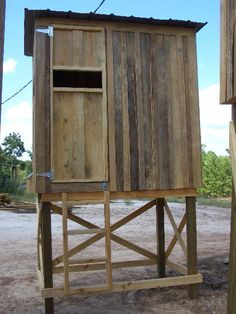 Free Plans 12' Wood Tower Stand Shooting House Pinterest