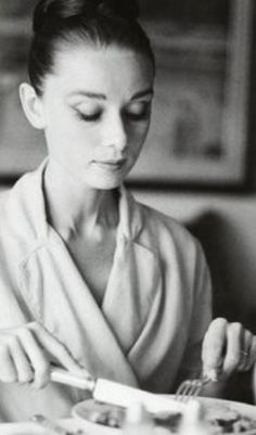 breakfast in a bathrobe-its Audrey Hepburn style