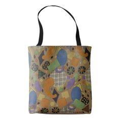 art deco design geometric shapes tote bag - vintage gifts retro ideas cyo