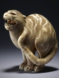 Prior Pinner: standing tiger netsuke, circa japan (this is in the british museum)