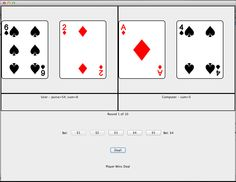 Java Baccarat (2013)  A basic implementation of the card game Baccarat for my Java programming class.
