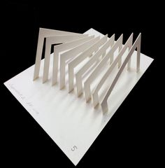 An example of how i would like my roofing to look like. but in a straight pattern. Maquette Architecture, Architecture Design, Architecture Model Making, Paper Architecture, Concept Architecture, Landscape Architecture, Arch Model, Parametric Design, Geometric Shapes