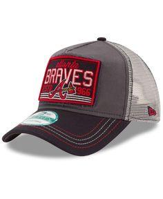 d877b5e1a2290 New Era Atlanta Braves Trucker Tear 9FORTY Snapback Cap Sports Fan Shop