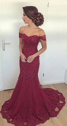 Off The Shoulder Prom Dresses, Prom Dress, Evening Dresses, Formal Dresses, Graduation Party Dresses on Luulla Evening Dress Long, Cheap Evening Dresses, Mermaid Evening Dresses, Evening Gowns, Evening Party, Cheap Dresses, Tulle Prom Dress, Party Dress, Elegant Bridesmaid Dresses